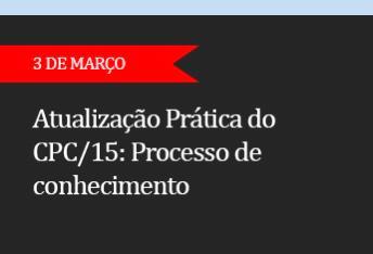 ATUALIZAÇÃO PRÁTICA DO CPC/15.  Processo de conhecimento